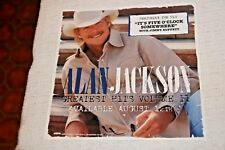 "Alan Jackson Window Cling Promo Poster ""Greatest Hits Vol Ii"" 8 1/4"" Square"
