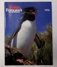 1992 LEICA MAGAZINE Vintage Photography Penguins Rinie Van Meurs cover