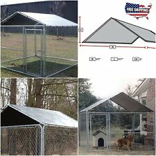 Dog Kennel Cover 10 x 10 Outdoor Roof Pet Pen Cage Fence Large Shade Crate Top