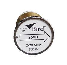 New Bird 250H Plug-in Element 0 to 250 watts 2-30 MHz for Bird 43 Wattmeters