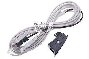 Original AVM Fritz!Box Y Kabel DSL Internet RJ45 Y Kabel  + TAE Adapter Schwarz