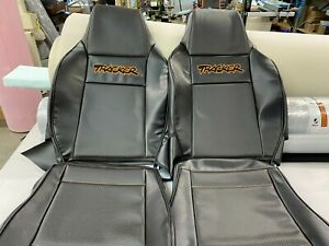 1989-1998 Geo tracker Seat Replacement Covers kit with orange emblem(Front)