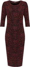 Vestiti da donna a manica corta rosse lunghezza totale