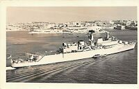 "POSTCARD  SHIPS  HMS   "" DEVONSHIRE ""  - RP - VALETTA HARBOUR  - 1968"