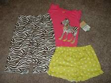 Carter's Baby Girls Zebra 3pc Pajamas Set Size 18 Months 18M Pants Shorts 12-18