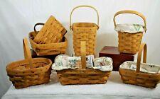 Longaberger Lot of 7 Baskets