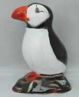 Anita Harris large black and white Puffin figure - signed in gold to base