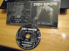 RARE ADVANCE PROMO Joey Ramone CD ...ya know? punk RAMONES Plasmatics JOAN JETT