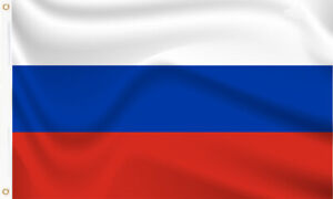 RUSSIA FLAG LARGE 5 x 3ft RUSSIAN EURO 2020 COUNTRY NATIONAL BANNER BRASS EYELET
