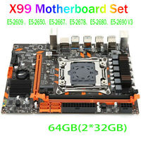 Motherboard for X99, CPU Slot for LGA 2011-3 DDR4 2666/2400/2133MHz Dual Channel