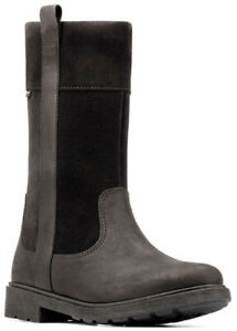 Clarks ASTROL HI GTX Girls Black Leather Waterproof Boots 11 - 2 F Fit NEW BOXED