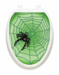 Toilet Tattoos Halloween Spider Web  Vinyl Removable Halloween Lid Decor