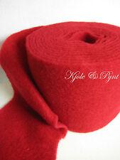 3,40 €/m olla banda wollvlies fieltro rojo 15cm lana de oveja Lehner lana ro04 fieltro