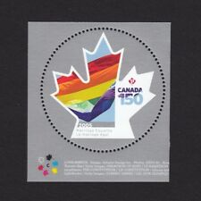 MARRIAGE EQUALITY = CANADA 150 = Stamp from MiniSheet w/colour marks MNH 2017