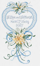 Cross Stitch Kit ~ Janlynn Cherished Wedding Floral Marriage Record #056-0200