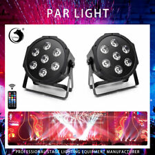 U`King 2PCS RGBW 35W LED Stage Lighting DMX DJ Disco Party Show PAR Light Remote