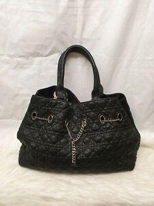 Auth Christian Dior snakeskin python vintage leather Hand bag code 07-MA-1008
