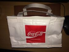 New Coca Cola Coke RARE WHITE RED Lunch Bag Cooler Cool 6 PACK Classic Vintage