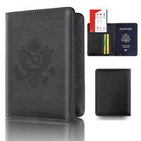 LC_ Rfid Blocage Porte-Passeport Porte-Feuille Voyage Simili Cuir Étui Support