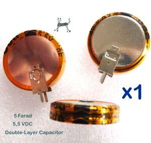 5F 5,5V - 5 Farad Double-Layer SuperCap - Lötfahnen für vertikale Printmontage