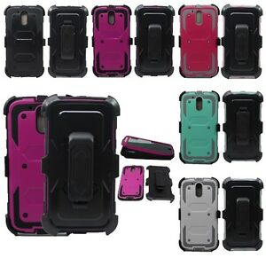 For Motorola Moto G4 / G4 Plus [Tri-Guard] Case + Belt Clip & Built-In Screen