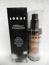 Lorac Porefection Liquid Poreless Foundation Pr8 Golden Tan Spf20 Full Size Nib