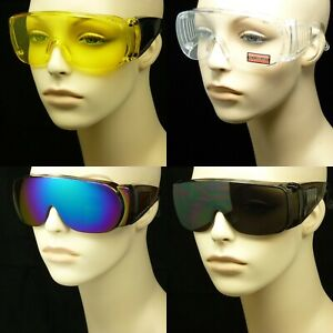 Sunglasses fit over frame cover all glasses drive lens safety extra large new