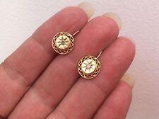 BEAUTIFUL VICTORIAN 15ct GOLD DIAMOND EARRINGS