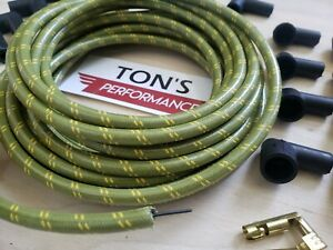 8mm Vintage Cloth Covered Spark Plug Wire Kit for ELECTRONIC IGNITION SYSTEMS GR
