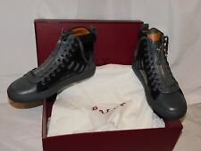 BALLY BLACK AND GRAY LEATHER HIGH TOP SNEAKERS SIZE 8D