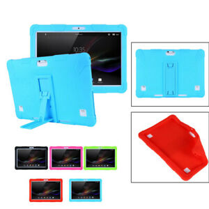 """Universal Flexible Silicone Cover Case Protector For 10"""" 10.1"""" Android Tablet PC"""