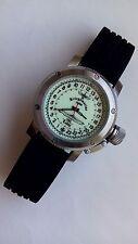 Russian 24-hour mechanical watch Submarine U-995 Laboe 47 mm white luminescent