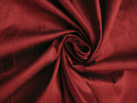 Burgundy Burgandy Red 100% Dupioni Silk Fabric Yardage Quilt Sew Drapery