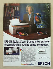 B067-Advertising Pubblicità-2000 - EPSON STYLUS SCAN - STAMPANTE SCANNER