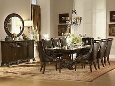 WISDOM 9 pieces Traditional Brown Rectangular Dining Room Table & Chairs Set NEW