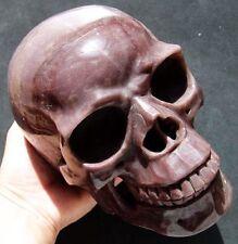 """7.0"""" HUGE Purple JASPER Skeleton, Crystal Healing SKULL"""