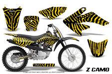 HONDA CRF 70 GRAPHICS KIT CREATORX DECALS STICKERS ZCAMO YELLOW