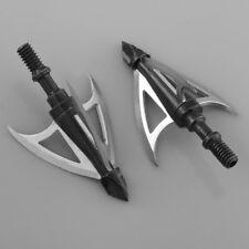 3pcs 100Grain Hunting Archery 3-blade Broadheads Arrow Heads Points Tips