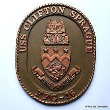USS Clifton Sprague - United States Navy Ship Metal Tampion Plaque Badge Crest