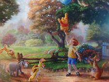 """Thomas Kinkade Studios (Disney) Postcard """" Winnie the Pooh,Polar Express,Music"""