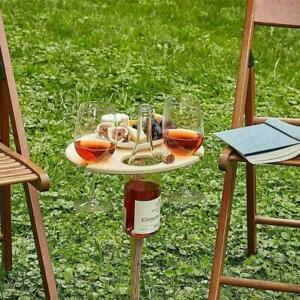 Tray Picnic Table Folding Portable Holders Wine Stand For Home Tray Bed R1Y9