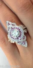 2.01ct off white moissanite wt simulated diamonds 925 silver wedding ring SKU053