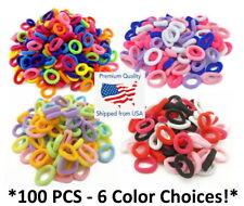 100pcs Child Kids Hair Holders Cute Rubber Band Elastics Scrunchies - Pick Color