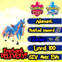 Pokemon Sword Shield / Zacian + Rusted Sword / 6IV Max EVs / Instant delivery!!!