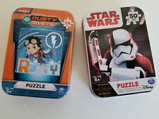 Disney's Star Wars and Rusty Rivets 50 Piece Puzzle In Metal Tins