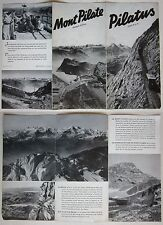 1939 PILATUS brochure Suisse Schweiz Pilate Luzern Broschüre Werbung Lucerna
