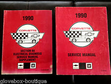 1990 Corvette Factory GM Original Factory Dealership Service Manual 2 Book Set