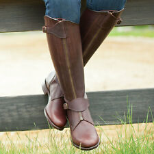 Mux Leather Horse Riding Polo Boot with Front Buckle Straps 5 Colors UK 5-12
