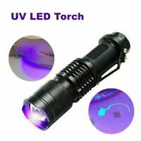 UV Ultra-Violet LED Flashlight Black Light 395/365nM Inspection Lamp Torch Tool