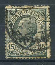 Eritrea 1918 Sass. 47 Used 60% 15 c.  -Italian colony